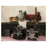 Vtg Polaroid Cameras & Brass +