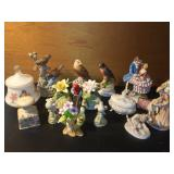 Vtg Porcelain Figurines, Music Boxes +