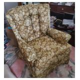 Vtg Upholstered Armchair