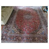 Very Lg Handknotted Wool Rug