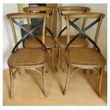 Arhaus Oak & Metal Side Chairs