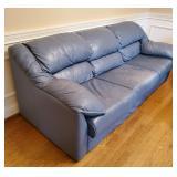 Blue Leather Sofa - Set