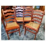 Cherry Caned Chairs 4