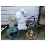 Concrete Frogs, Turtle +