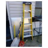 Ladder, Shovel, Sheet Metal +