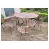 Outdoor Wrought Iron Patio Tables, Chairs