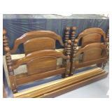Pair Vtg Willett Twin Bed Frames