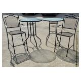 Two Cafe Tables & Chairs