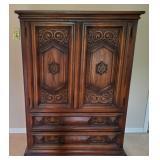 Vintage Oak Wardrobe - Set