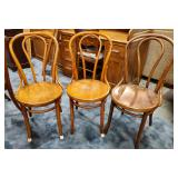 Vtg Bentwood Chairs 3