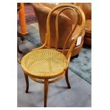 Vtg Black Oak Bentwood Chair