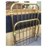 Vtg Brass Twin Head & Footboard