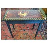 Vtg Hand Painted Table Signed
