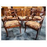 Vtg Mahogany Dining Chairs 6