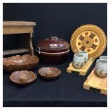 Vtg Wood & Ceramics