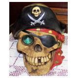 Pirate Coin Bank w/Plug
