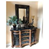 Marble Top Entry Console w/Black Painted Panels- $495