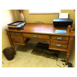 5-Drawer Wood Executive Desk - $295