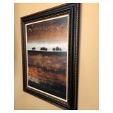 Black & Gold Framed African Landscape Painting - $75