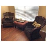 2 Woven Banana Leaf Occasional Chairs - $200 EACH