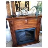Electric Fireplace w/Wood Mantel