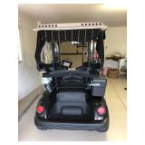 2008 Yamaha gas golf cart with extra brake lighting, faux wood grain dash, and other extras -- in gr