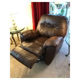 Brown Faux-leather manual Recliner - $95