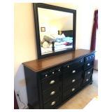 Black and dark wood King 5-Piece Bedroom Suite $1100 (Save $75 on set)