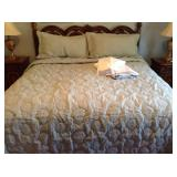 King Damask Bedding Set