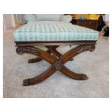 Ethan Allen Cross Legged Bench