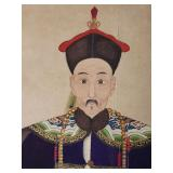 1850 Chinese 1st rank officer scroll painting