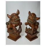 1900 chinese boxwood foo dogs