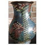 Chinese cloisonne vase 19 c