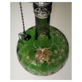 American brilliant period cut glass  steven and williams chain decanter
