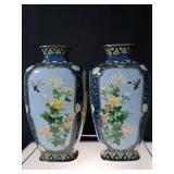Japanese inaba signed vase meiji period