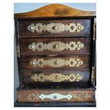 19 c jewel cabinet chest inlaid