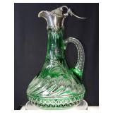 Rare stevens and williams ewer polished engraving american brilliant period