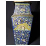 Chinese ming cloisonne on bronze vase