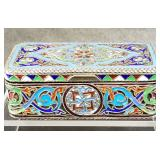 imperial russian enamel on sterling 19 c box
