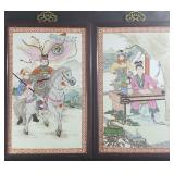 Chinese Famille Rose Plaque Tiles