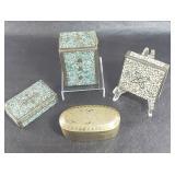 Mossaic bronze boxes