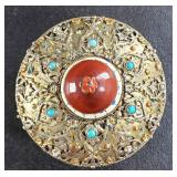 Sterling silver turquoise carnelian box