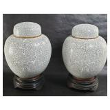 Chinese cloisonne vases / jars