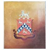 19 c falily crest painting