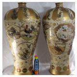 Pr Of Monumental Satsuma Palace Vases 19 c