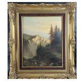 Signed Albert Bierstadt Landscape