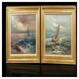 Oil painting seascape