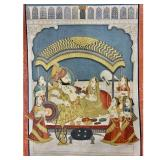 Rare Peshwa Painting Depicting Akbar