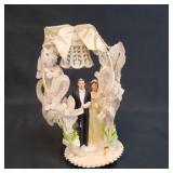 Vintage Bride & Groom Cake Topper Pre 50