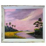 N.E Wright Florida Highwaymen Landscape Painting